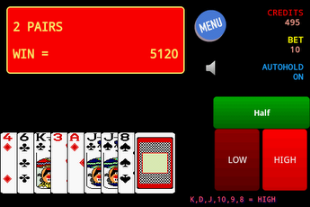 Jolly Card Poker for android screenshot
